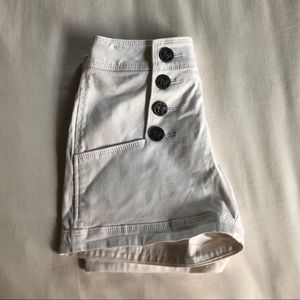 White High-Rise Shorts [with the cutest buttons!]